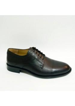 Bağcıklı Hakiki Deri Siyah Kundura Erkek Ayakkabı