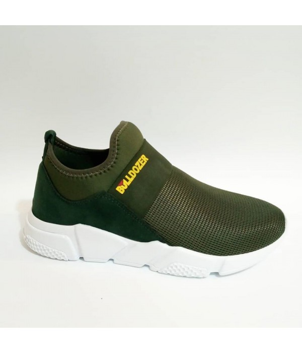 Bulldozer Yazlık Bay Bayan Bağcıksız Yeşil Spor Ayakkabı