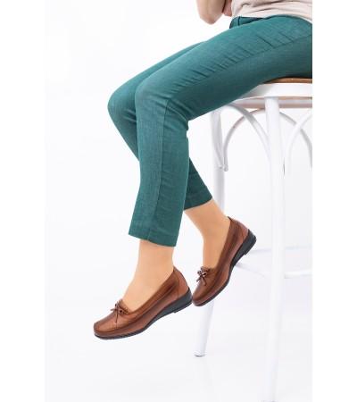 Anne Ayakkabısı Taba Günlük Tam Ortopedik Hakiki Deri Taban 049