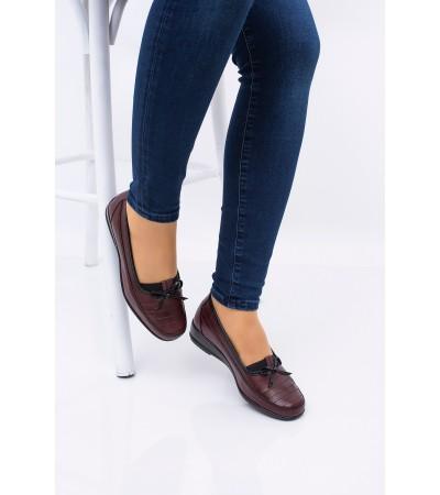 Bayan Bordo Ortopedik Anne Ayakkabısı