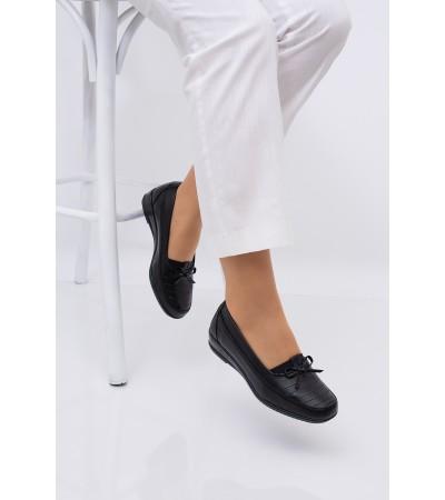 Bayan Siyah Ortopedik  Anne Ayakkabısı