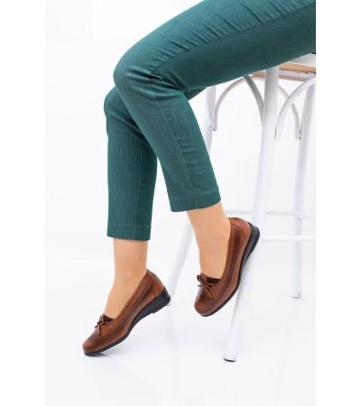 Anne Ayakkabısı Taba  Günlük Tam Ortopedik Hakiki Deri Taban 08
