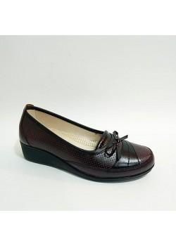 Frida Bordo Siyah Ortopedik Anne Ayakkabı
