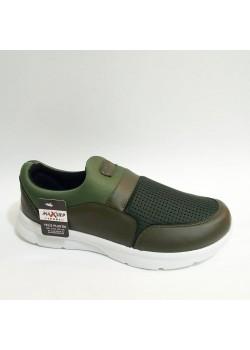 Yeşil Beyaz Bağcıksız Yazlık Erkek Bayan Çocuk Spor Ayakkabı