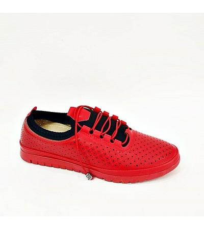 Kırmızı Yazlık Bayan Spor Babet