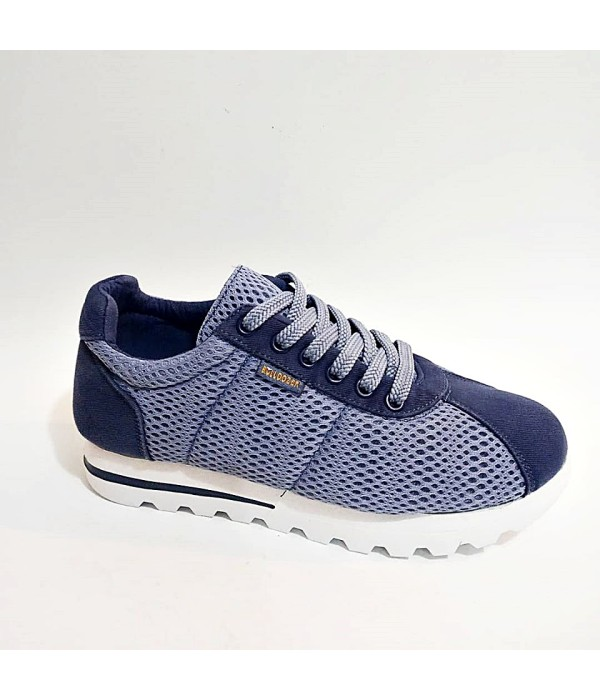 Bulldozer Yazlık Mavi  Beyaz Tam Ortopedik Erkek Bayan Spor Ayakkabı