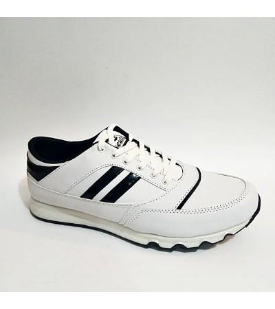45 46 Büyük  Numara Beyaz Bağcıklı Erkek Spor Ayakkabı