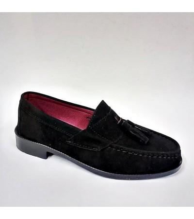 Corcik Siyah Süet Erkek Kundura Ayakkabı