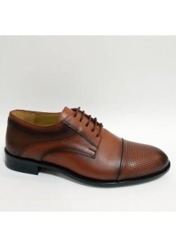 Bağcıklı Hakiki Deri Taba Kundura Erkek Ayakkabı