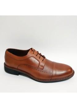 Bağcıklı Hakiki Deri Taba Hafif Taban Kundura Erkek Ayakkabı