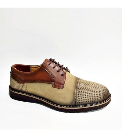 Vizon Kahverengi Hakiki Deri Erkek Kundura Ayakkabı