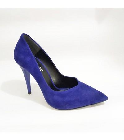 Lacivert Topuklu Bayan Stiletto Abiye Ayakkabı