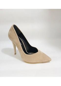 Vizon SüetTopuklu Bayan Stiletto  Abiye Ayakkabı