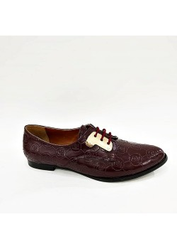 Pierre Cardin Bordo Bağcıklı Bayan Klasik Ayakkabı