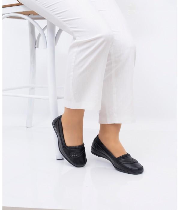 Frida Siyah Tam  Ortopedik Anne Ayakkabı