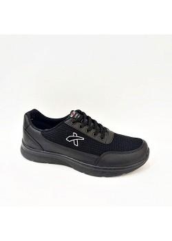 Siyah Bağcıklı Yazlık Erkek Spor Ayakkabı